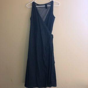 DKNY Jeans Denim Wrap Dress